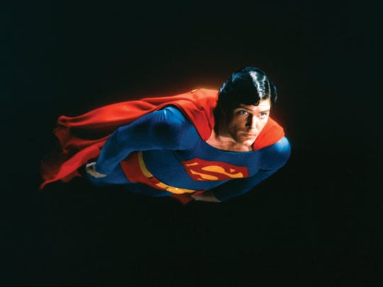 "4. This undated file photo shows actor Christopher Reeve as Superman in the 1981 film ""Superman II."""