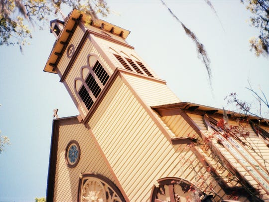 The bell tower at Christ Episcopal Church in Monticello.