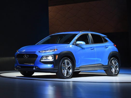 The 2018 Hyundai Kona is revealed during the Los Angeles