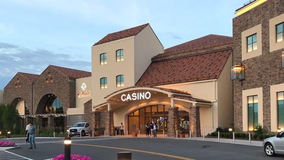 The del Lago Resort and Casino is in Tyre, Seneca County,