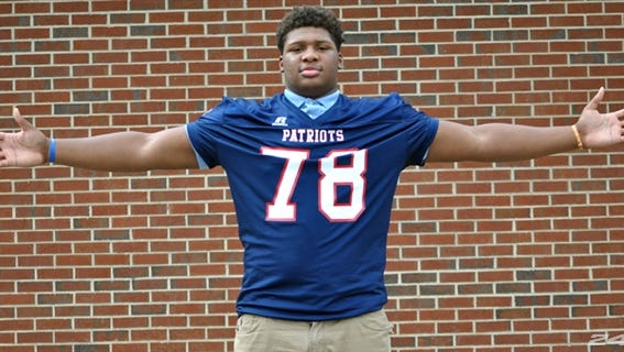 Westover (Ga.) High's Trenton Thompson, the nation's top recruit for 2015 according to ESPN, has been offered scholarships by Auburn and Alabama. He will play in one of the 10 games played on ESPN High School Football Kickoff next month.