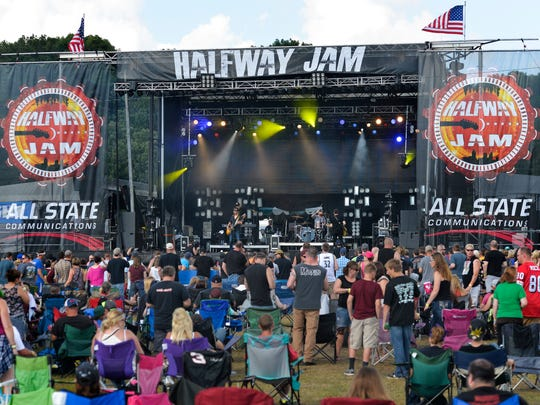 Better Than Ezra entertains the crowd on the main stage Saturday at Halfway Jam.