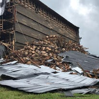 Thousands of bourbon barrels spill from collapsed Barton 1792 warehouse