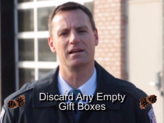 Farmington Public Safety Director Frank Demers stars in the holiday safety video.