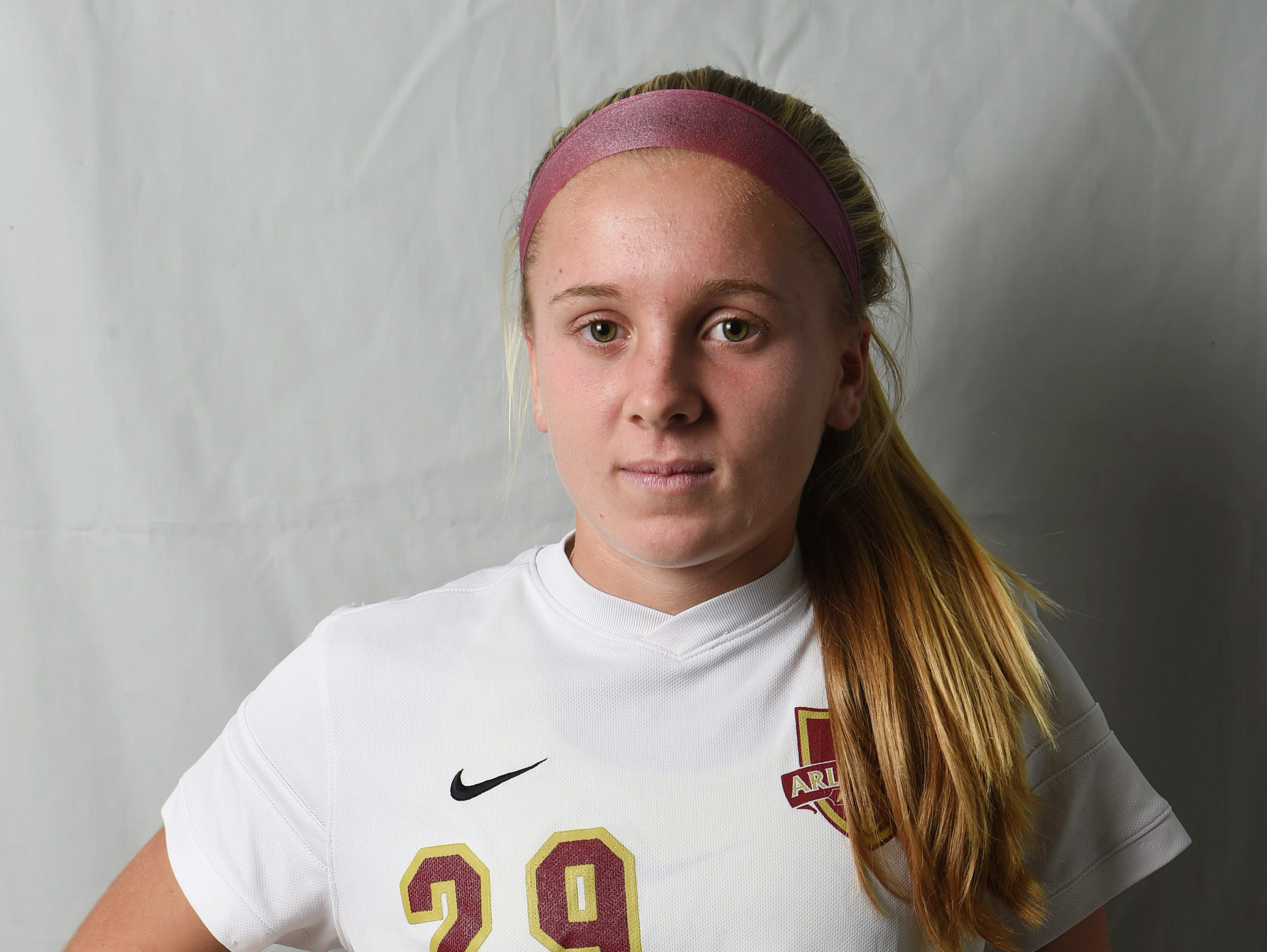 Molly Feighan from Arlington High School is the girls soccer Offensive Player of the Year.