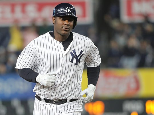 The New York Yankees recalled first baseman Chris Carter