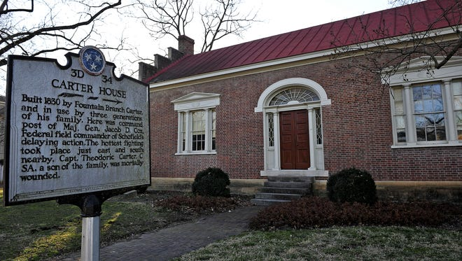 The Carter House served as Federal headquarters during the Battle of Franklin.