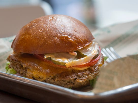 An Impossible Burger is served at Brome Modern Eatery