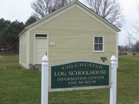 Colchester Log Schoolhouse No. 4 has been relocated and historically restored as a museum and information center at Airport Park. It is now restored museum and information center in Airport Park.