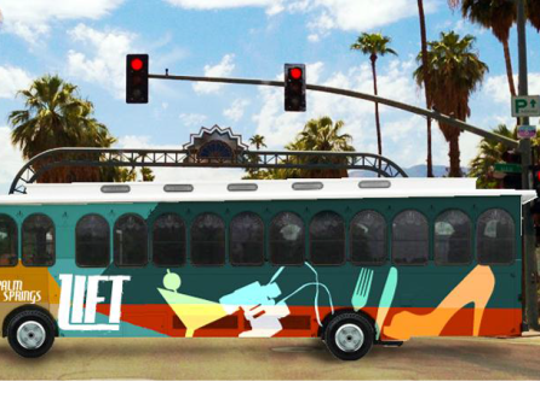 The Palm Springs Lift is one of the four branding ideas for the new downtown shuttle program presented to the Palm Springs City Council on Wednesday.