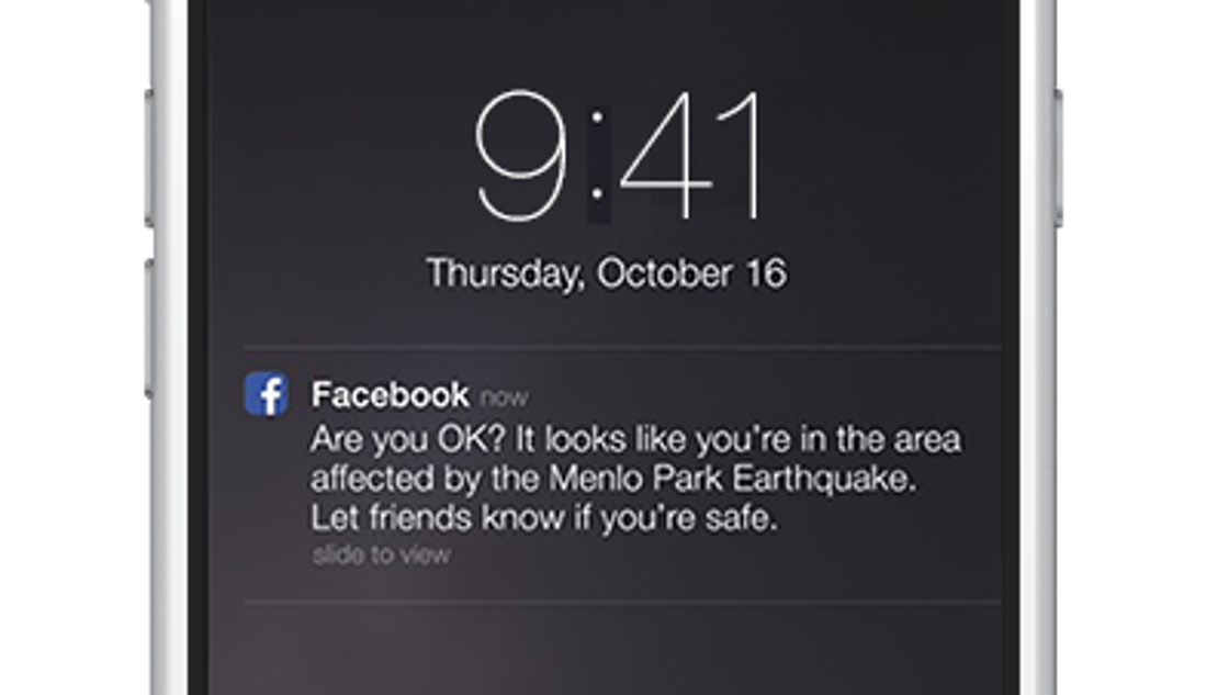 Facebook service alerts friends you're OK in disasters
