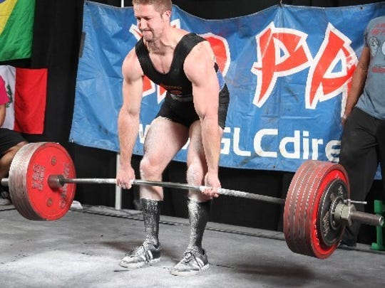 Nick Rosencutter deadlifts 655.87 pounds - at a bodyweight of 188 pounds - at the WABDL Worlds in Las Vegas last November. The gym owner from Greenfield also trains clients for their power lifting competitions.
