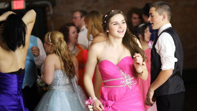 Santiam High School's prom at the Reed Opera House.