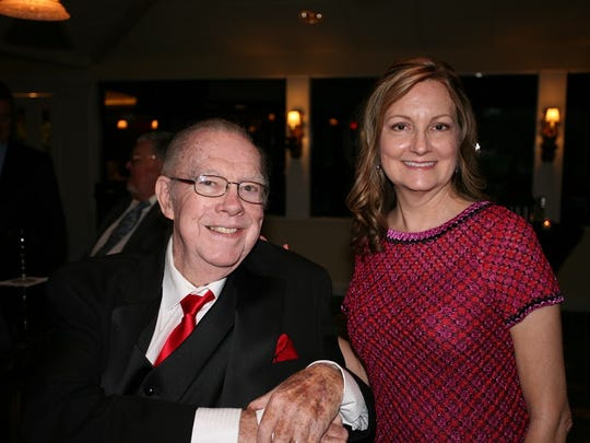 """Deane MacMillan and Mary Fields at the """"All Jazzed Up on Bourbon Street"""" gala Jan.27 at the Mariner Sands Country Club to benefit The Volunteers in Medicine Clinic."""