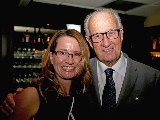 Dr. Sandy Potthoff, left, and David Smythe at Mariner