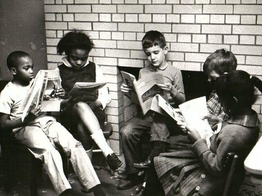 Children read at Edgehill United Methodist Church.