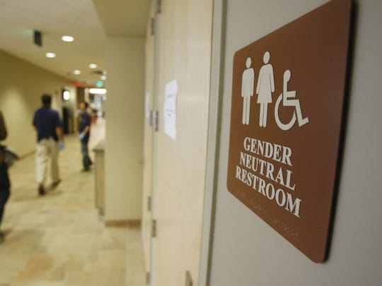A gender-neutral restroom at the University of Vermont