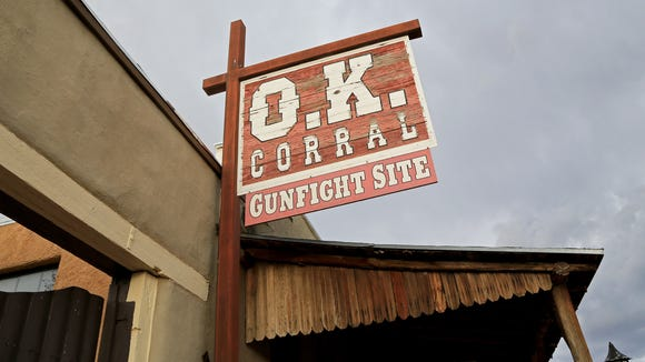 Perhaps the most famous gunfight of the historic Wild West took place here at the O.K. Corral in Tombstone, Ariz.
