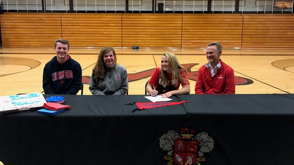 Asheville High senior Adrienne Haynes has signed to play college tennis for Richmond.