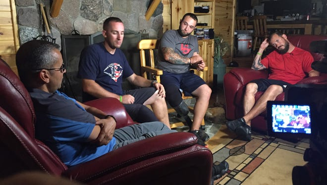 Four military veterans recently gathered at the ranch owned by retired Brig. Gen John Kulhavi of White Lake.