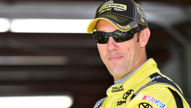 NASCAR Sprint Cup Series driver Matt Kenseth will start in the front row with Denny Hamlin.