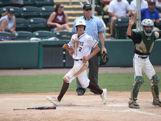 Madison County's Drew Herring scores against South Walton on Wednesday during an FHSAA Class 1A state semifinal at Hammond Stadium in Fort Myers.