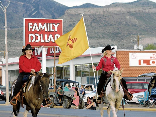 The 76th Otero County Fair kicked off Saturday evening with the annual parade down 10th Street. The 2015 Otero County Fair and Rodeo Event will be held in Alamogordo at the Otero County Fairgrounds between Aug. 12 and Aug. 15. The County fair features carnival rides, street dancing, a rodeo and exhibits.