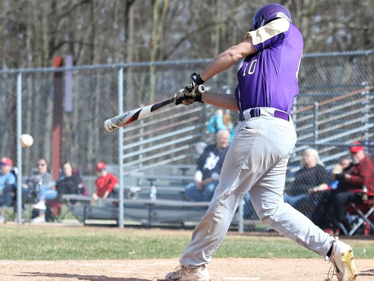 Fowlerville's JT Maybee was 3-for-4 in the first game