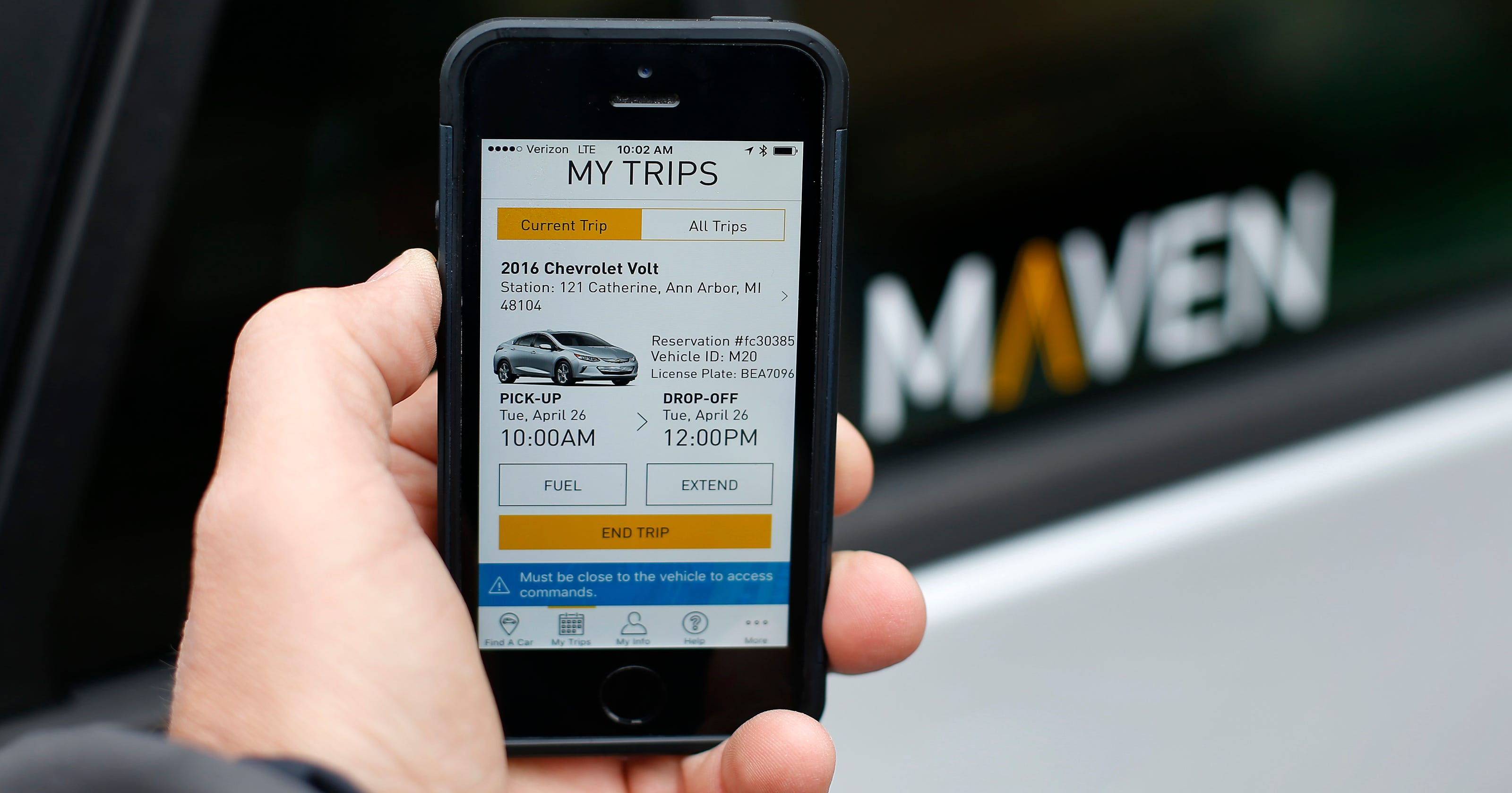Maven's new car sharing allows GM owners to make money