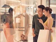 Shopping with husband