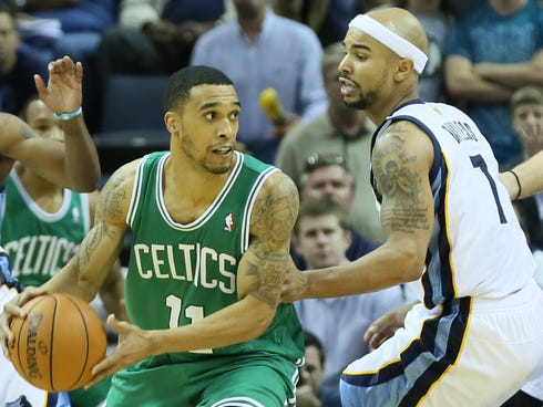 Celtics guard Courtney Lee, left, and Grizzlies guard Jerryd Bayless will swap teams in a trade.