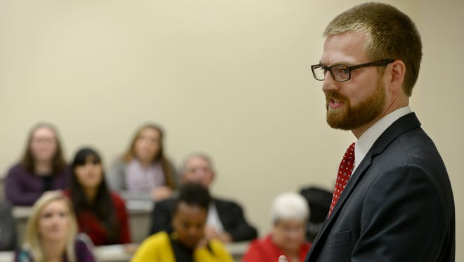 About 50 Freed-Hardeman University students participated in a question and answer session Friday with medical missionary and Ebola survivor Dr. Kent Brantly.