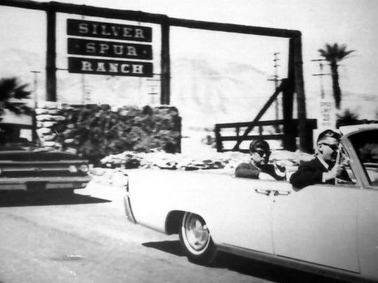 President John F. Kennedy leaving Silver Spur Ranch.