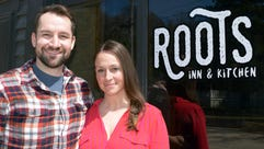 Collin and Sara Doherty own Roots Inn & Kitchen in