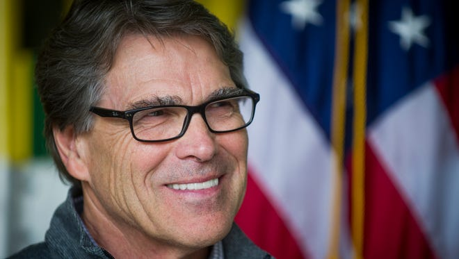 Secretary of Department of Energy Rick Perry during a tour of Oak Ridge National Laboratory's Manufacturing Demonstration Facility on Monday, May 22, 2017.