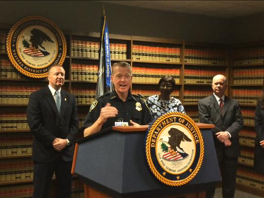 Shreveport Deputy Chief of Police Bill Goodin speaks