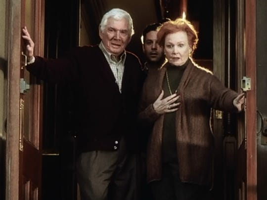 "Ann Robinson and Gene Barry reunite for ""The War of The Worlds"" in 2005."