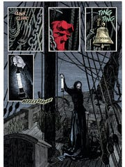 "Hellboy meets The Lady in ""Hellboy: Into the Silent"