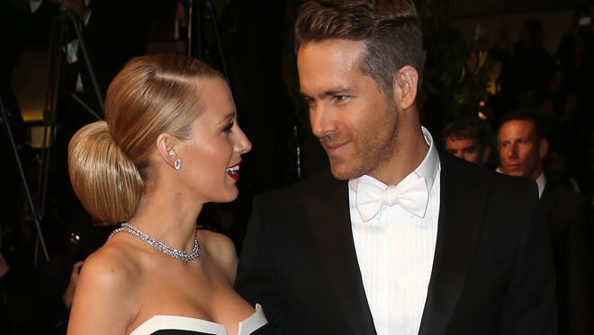 "Ryan Reynolds and his wife, Blake Lively, attend ""The Captive"" premiere during the 67th annual Cannes Film Festival on May 16, 2014, in Cannes, France."