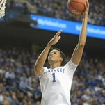 UK's Skal Labissiere during the University of Kentucky mens basketball game against Eastern Kentucky University at Rupp Arena in Lexington, Ky., on Wednesday, December 9, 2015.
