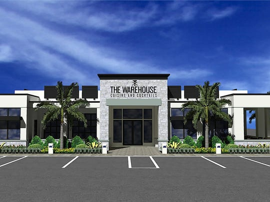 A rendering of The Warehouse restaurant and lounge