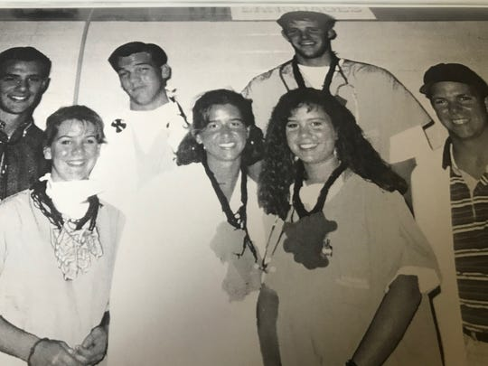 Ashley Estes Kavanugh, second from the left in the front row, posed for a picture for Student Council for the 1993 Cooper High School yearbook.