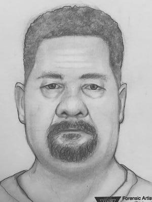 Sketch of Parvin Park shooting suspect.