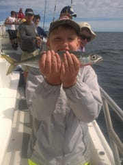 Alexander Barnarr, 11 from Atlanta, was visiting relatives and caught this mackerel and plenty others on the Miss Belmar Princess.