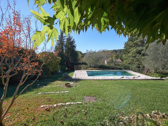 A look at the pool at Julia Child's Provence home.