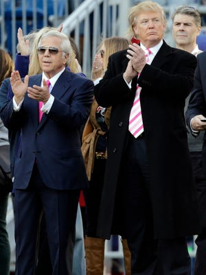 Prior to be elected president, Donald Trump was a guest of Robert Kraft at Patriots games.