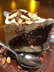 A slice of vegan chocolate mocha cake costs $5.95 at