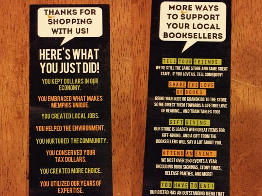 """They'll be collector's items, I guess."" Bookmark from Booksellers at Laurelwood."