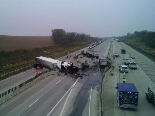 I 35 Reopens After Tuesday Morning Crash