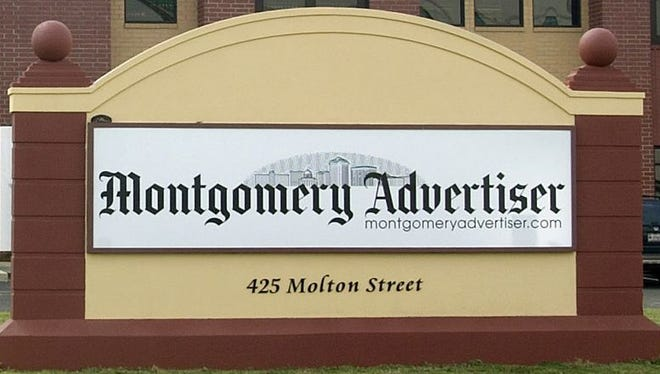Front of new Montgomery Advertiser building.